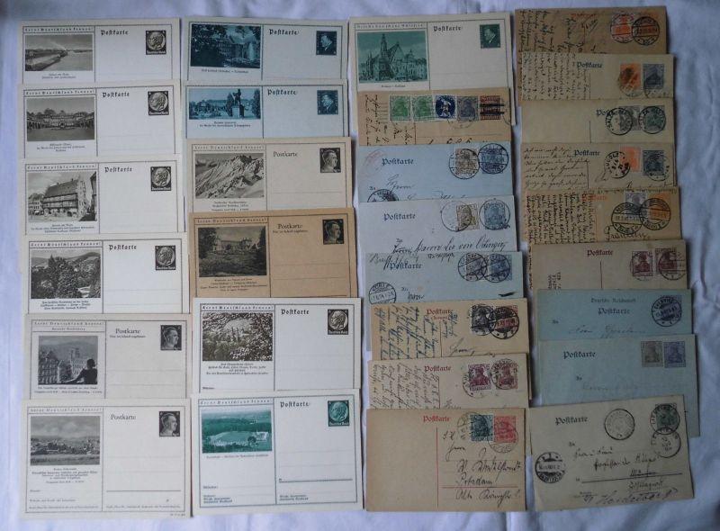 100 interessante Ganzsachen Postkarten Deutsches Reich (103496)