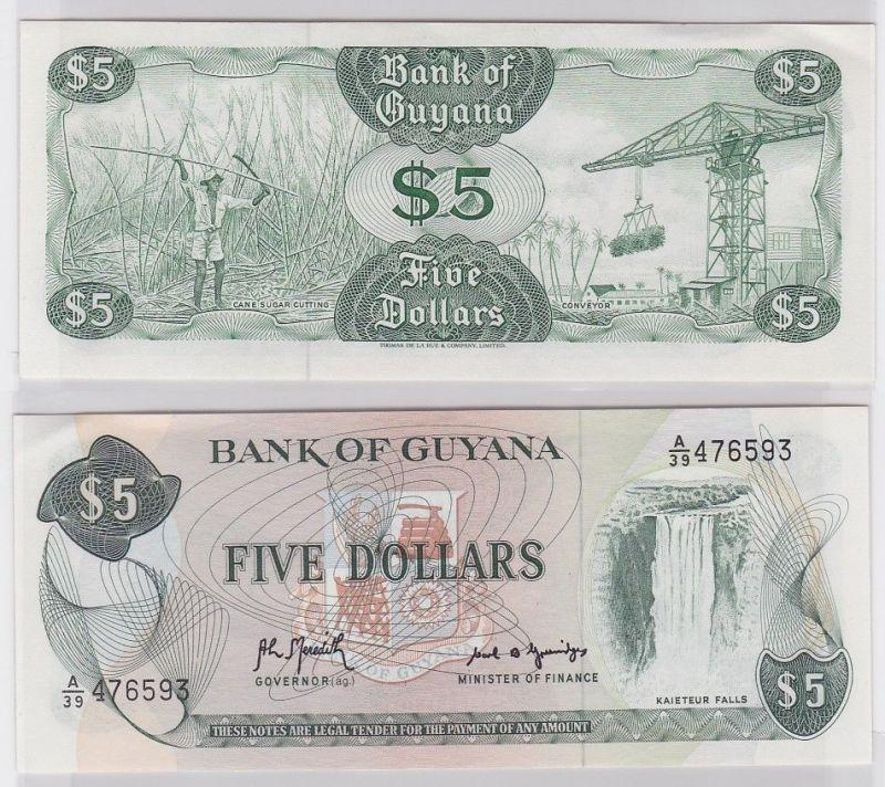 5 Dollar Banknote Bank of Guyana (1989) (123320)