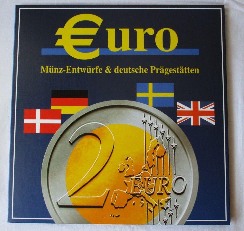 Euro Münzalbum Sammelalbum deutsche Prägestätten und Münz- Entwürfe (118011)