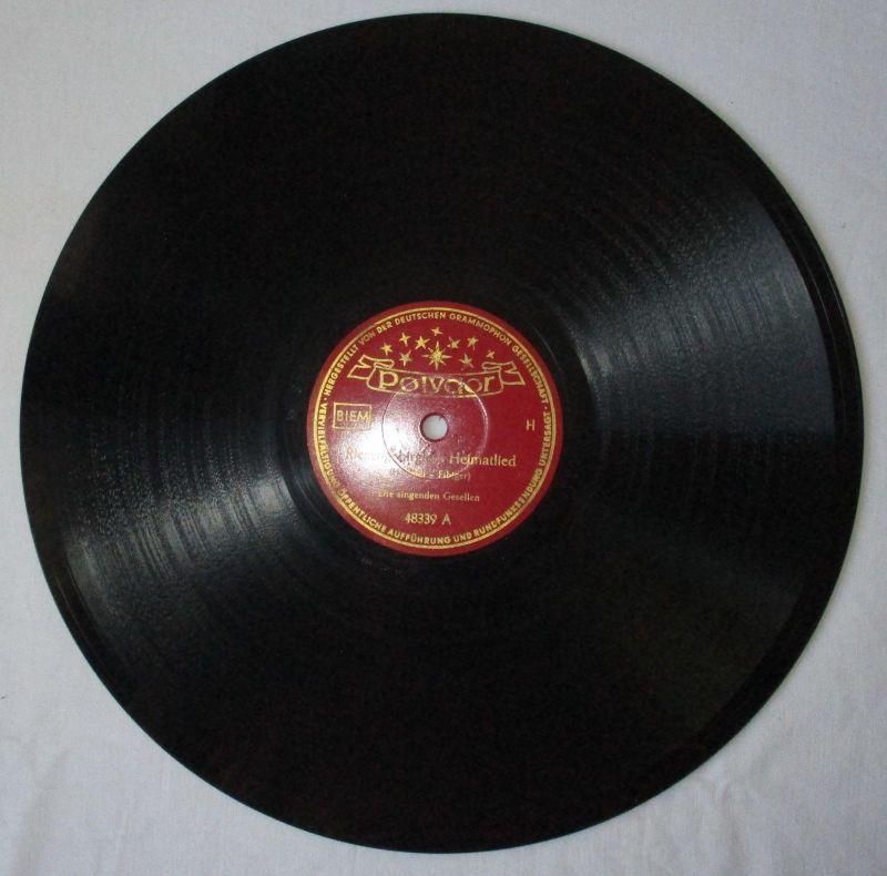 117538 Polydor Schellackplatte Tief im Böhmerwald / Riesengebirglers Heimatlied