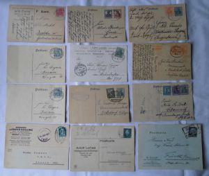 29 interessante Briefe & Karten Deutsches Reich mit Bahnpoststempel (102649)