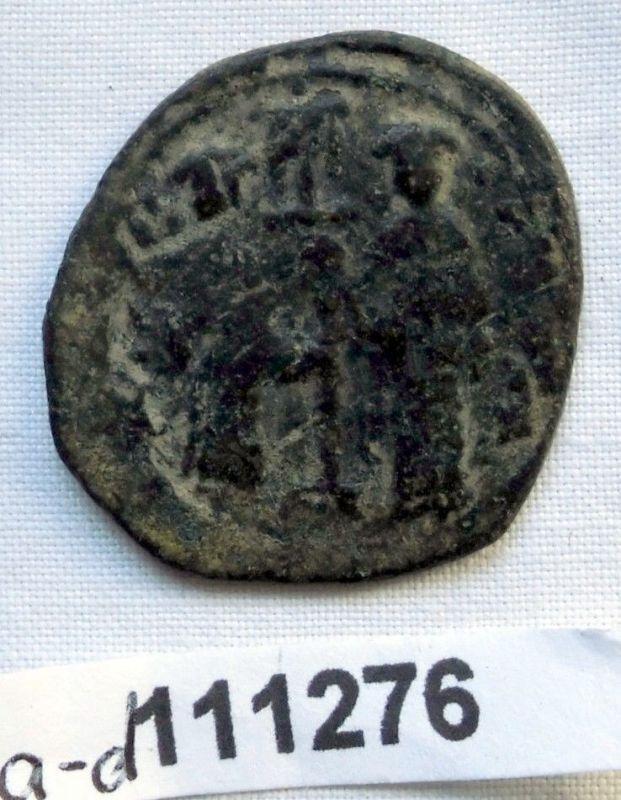 Follis Bronze Münze Byzanz 11.Jahrhundert Christusbüste (111276)