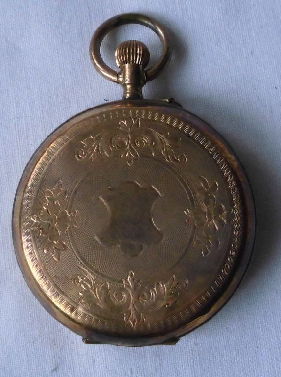 Seltene Herren Sprungdeckel Taschenuhr Gold um 1920 (112133)