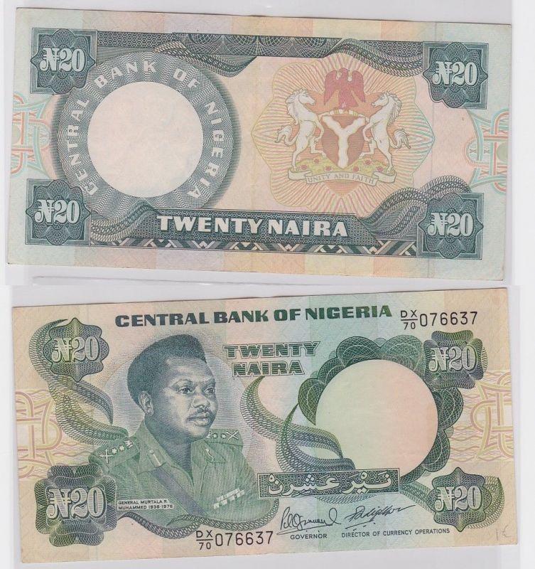 20 Naira Banknote Central Bank of Nigeria 1984 (122330)