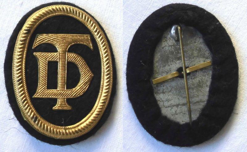 Filz Abzeichen mit Blechbeschlägen Deutsche Turnerschaft um 1920 (120539)