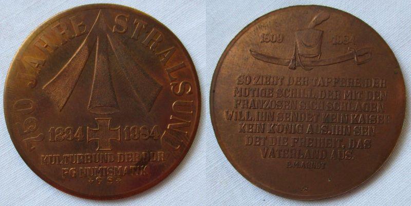 Medaille 750 Jahre Stralsund Kulturbund der DDR FG Numismatik 1984 (119247)