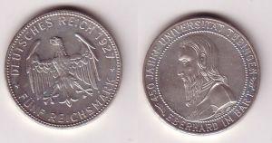 5 Mark Silber Münze Universität Tübingen 1927