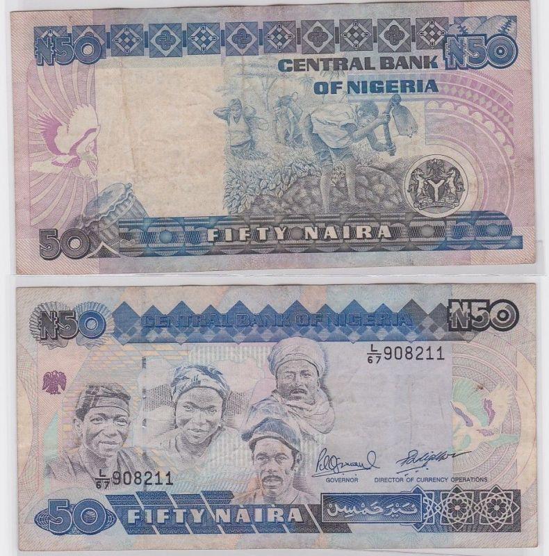 50 Naira Banknote Central Bank of Nigeria 1991 (122332)