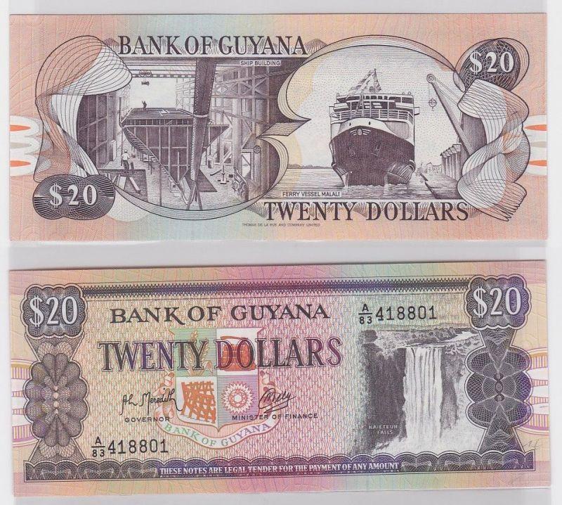20 Dollar Banknote Bank of Guyana 1989 (123281)