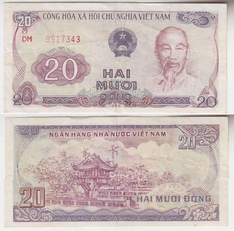 20 Dong Banknote Vietnam 1985  (111798)
