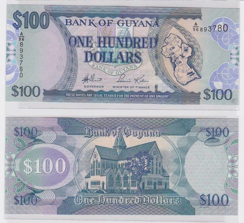 100 Dollar Banknote Bank of Guyana 1999 (122344)
