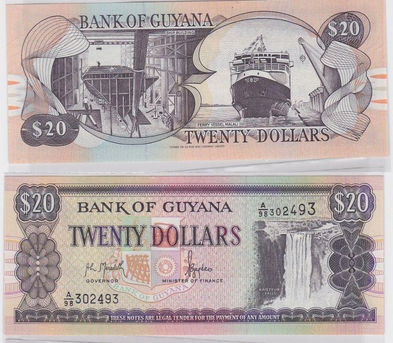 20 Dollar Banknote Bank of Guyana 1996 (123280)