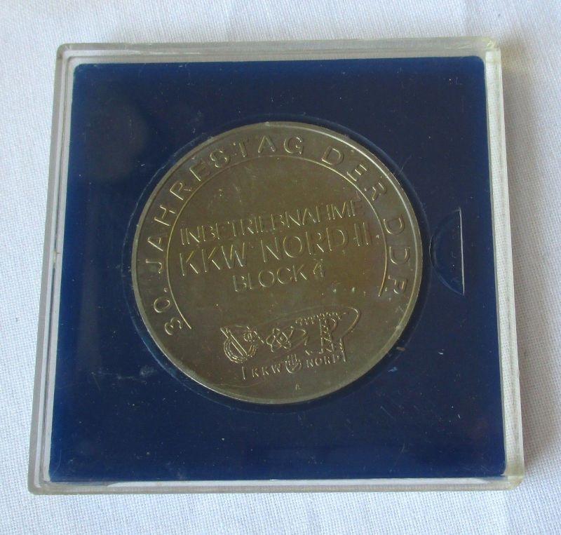 Seltene DDR Medaille Kernkraftwerk Nord deutsch-sowjetische Freundschaft /115483