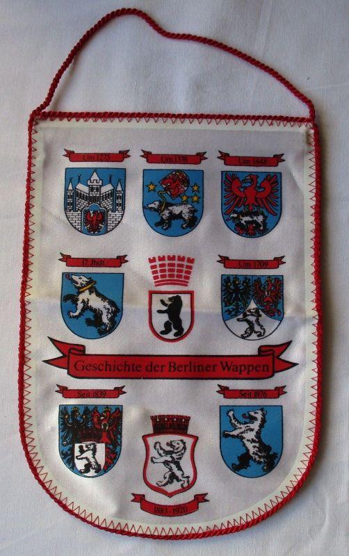 DDR Wimpel Geschichte der Berliner Wappen von 1275 bis 1920 (117569)