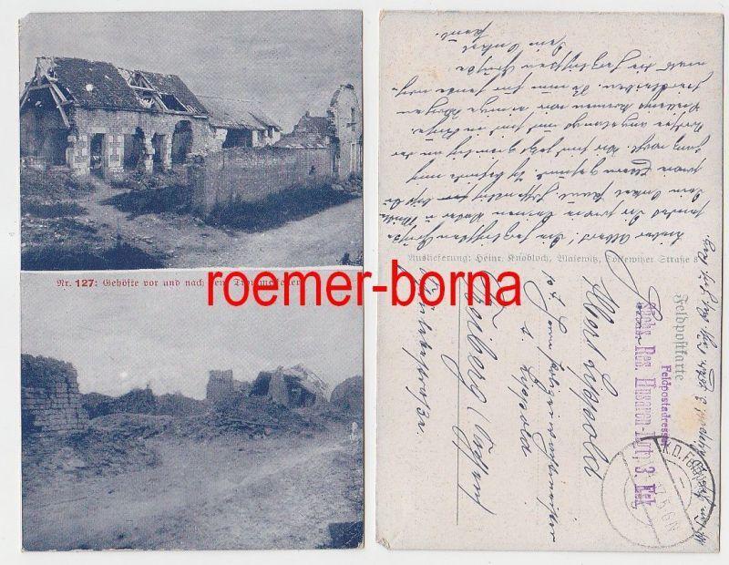 73565 Feldpost Ak Sächsisches Reserve Husaren Regiment 3.Eskadron 1917