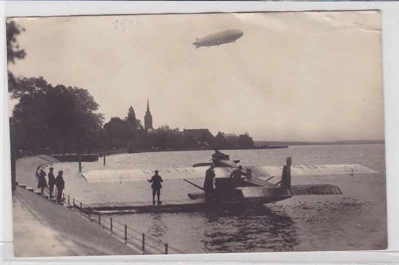 85842 AK Amerika-Zeppelin Z R III - erste Probefahrt über Friedrichshafen 1924