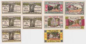 5 Banknoten Notgeld Gemeinde Trittau Schleswig Holstein o.D. (122272)