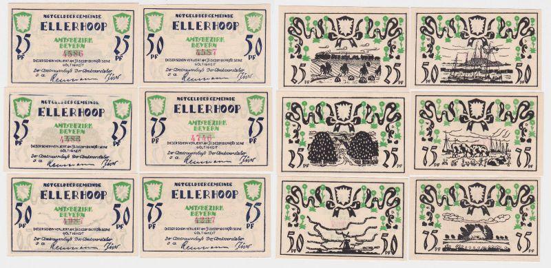6 Banknoten Notgeld Gemeinde Ellerhoop o.D. (1921) (119371)