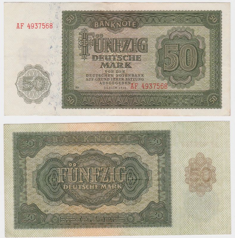 50 Mark Banknote DDR Deutsche Notenbank 1948 (105561)