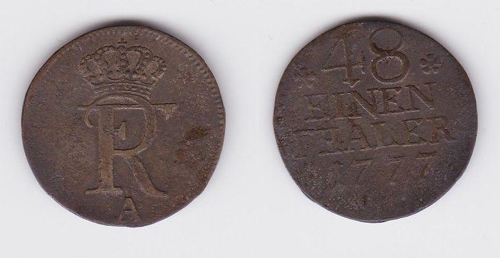 1/48 Taler Silber Münze Preussen Friedrich II 1777 A (124174)