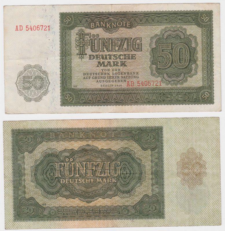 50 Mark Banknote DDR Deutsche Notenbank 1948 (106134)