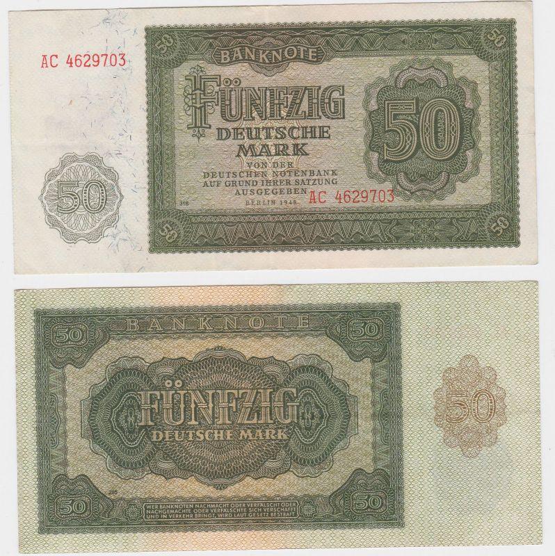 50 Mark Banknote DDR Deutsche Notenbank 1948 (108833)