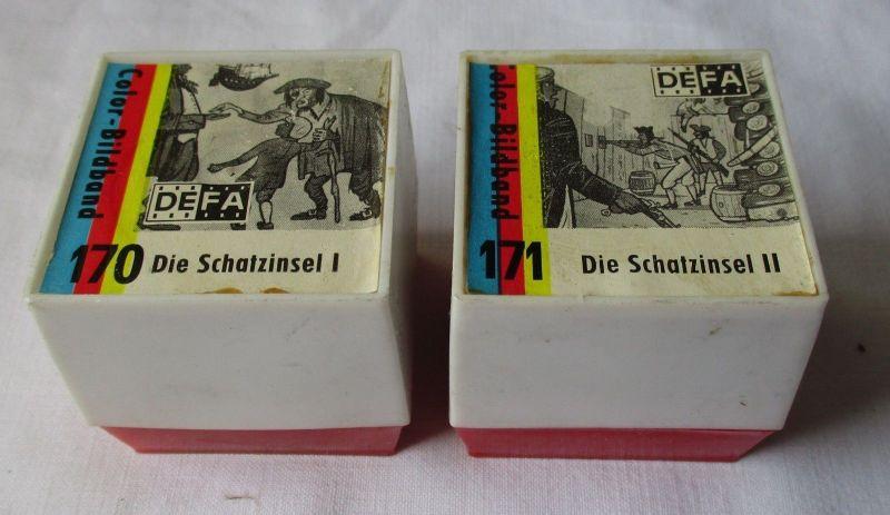 2 DIA FILME Pouva Magica DEFA 170+171 Die Schatzinsel I+II (111046)