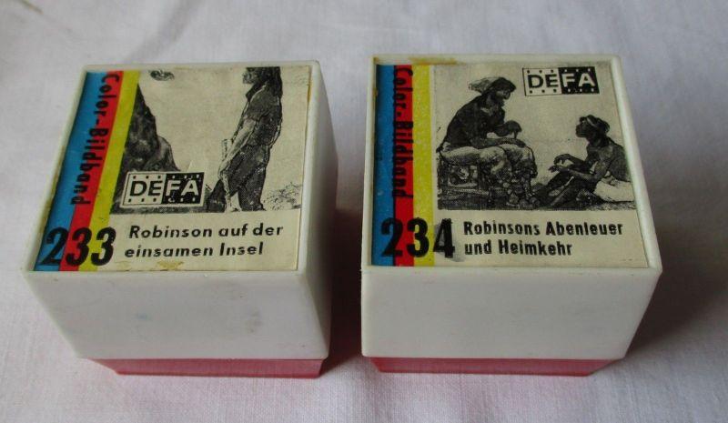 2 DIA FILME Pouva Magica DEFA 233+234 Robinsons Abenteuer und Heimkehr (116748)