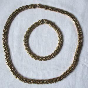 Hübsches Armband und Halskette aus 333er Gold (114364)