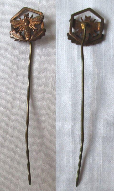 DDR Ehrennadel der Fachrichtung Imker in Bronze seltene Variante 1.Form (115419)