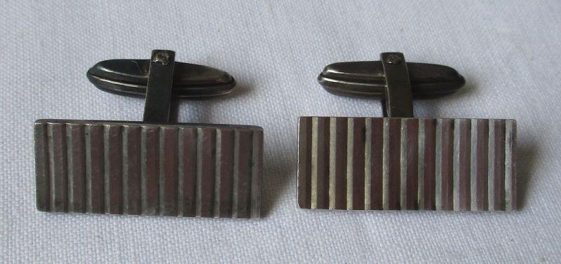 Stilvolle 835er Silber Manschettenknöpfe im Art Deco Stil (110746)