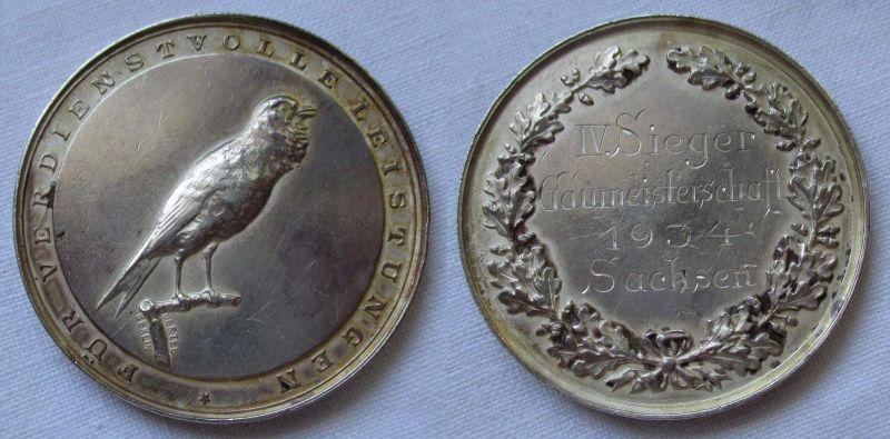 Medaille für Verdienstvolle Leistungen Gaumeisterschaft Sachsen 1934 (115006)