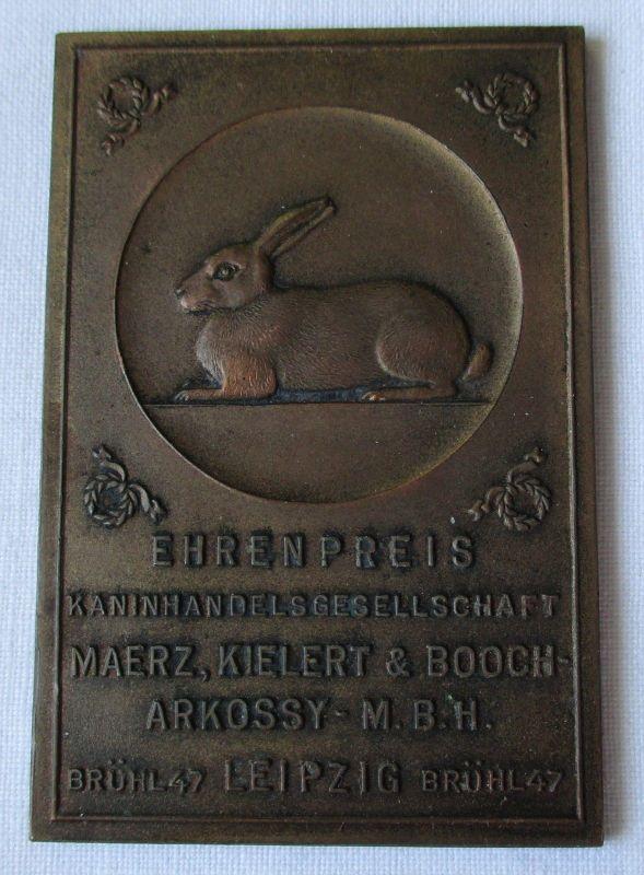 Plakette Kaninhandelsgesellschaft Maerz Kielert & Booch-Arkossy Leipzig (115823)