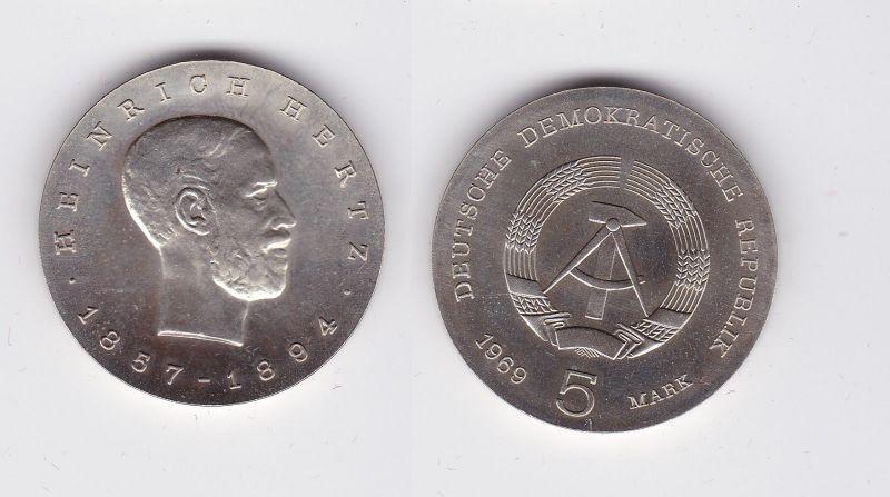 DDR Gedenk Münze 5 Mark Heinrich Hertz 1969 (118000)