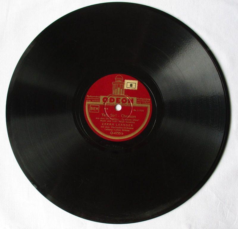 107659 Odeon Schellackplatte ZARAH LEANDER Tiefe Sehnsucht / Yes, Sir! um 1930