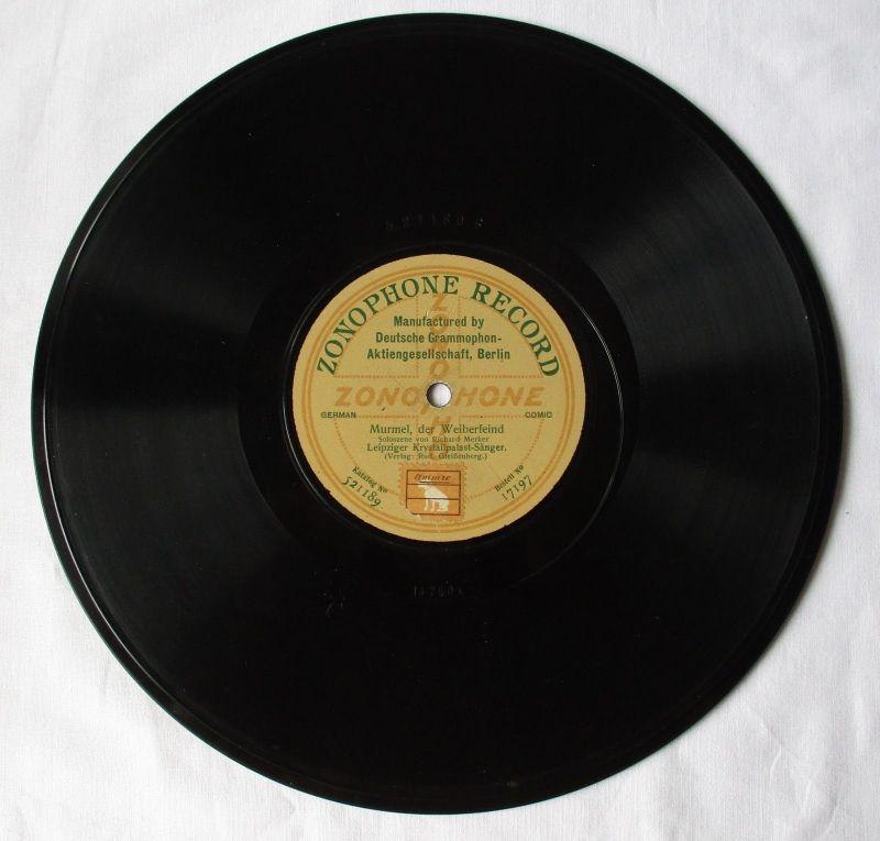 107418 Zonophone Record Schellackplatte Orchesterdiener Stimmgabel um 1930