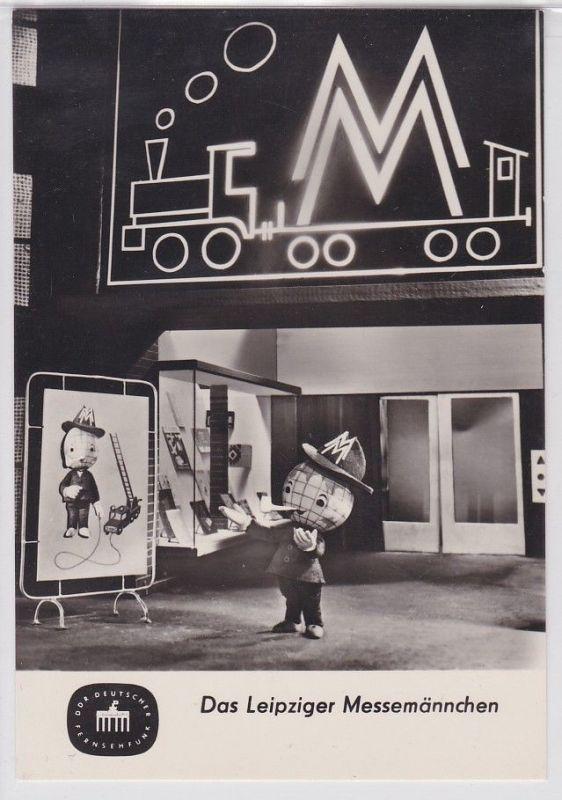 64558 Ak Das Leipziger Messemännchen Fernsehfunk der DDR 1965
