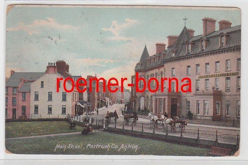 73779 Ak Portrush Irland Co. Antrim Main Street 1906
