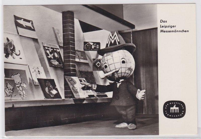 82716 Ak Das Leipziger Messemännchen Fernsehfunk der DDR 1965