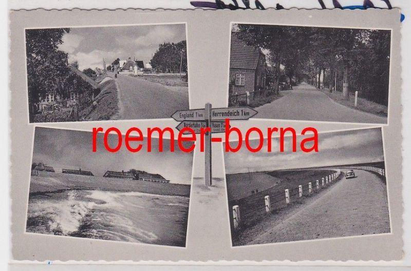 85063 Mehrbild Ak Insel Nordstrand bei Husum um 1950