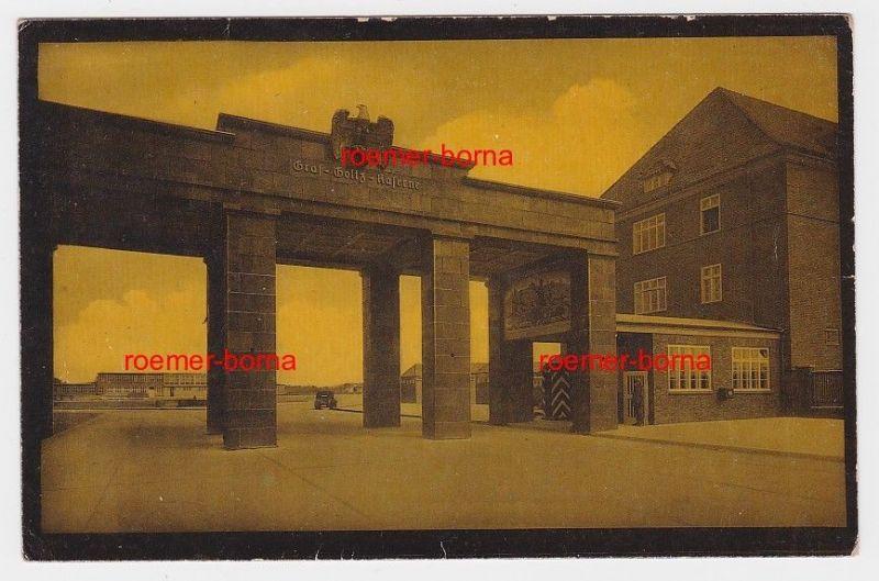 85872 Foto Ak Hamburg-Rahlstedt Graf-Goltz-Kaserne Eingang um 1940