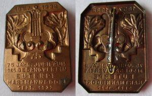 Altes Blech Abzeichen 75. Jubiläum Gesangsverein Hartmannsdorf 1932 (114409)