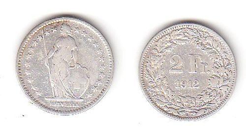 2 Franken Silber Münze Schweiz 1912 B 114260 Nr 232771946298
