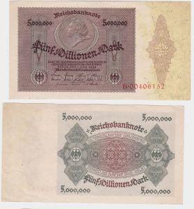 5 Millionen Mark Banknote Medaillon Schein 1.6.1923 Rosenberg 88 (121758)