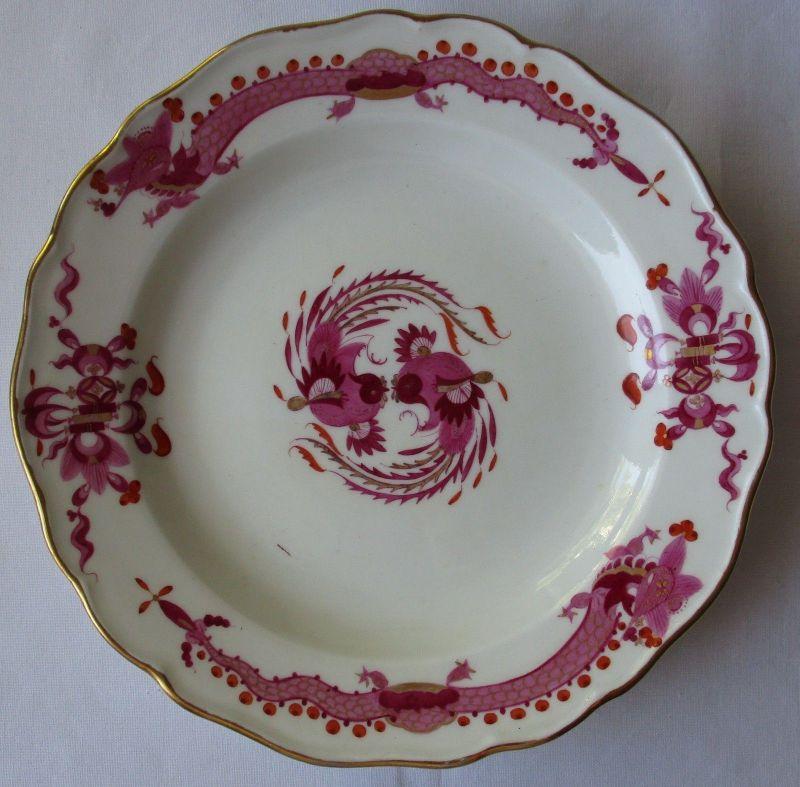 MEISSEN Porzellan Teller reicher Hofdrache purpur Goldrand Ø 17,5 cm (124130)
