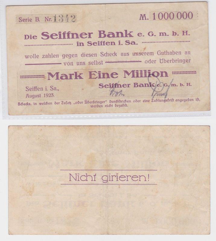 1 Million Mark Banknote Seiffen Seiffner Bank GmbH  August 1923 (119863)