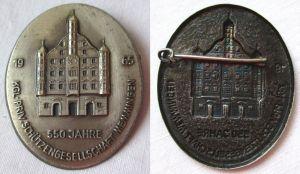 Altes Abzeichen Königlich Private Schützengesellschaft Memmingen 1965 (109167)