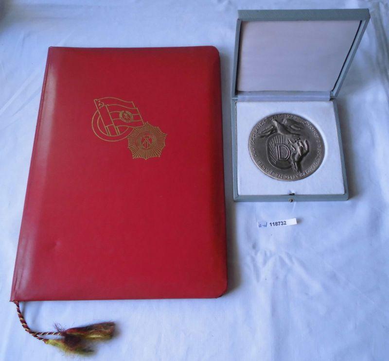 DDR Auszeichnung Ehrenplakette der LDPD im Original Etui + Urkunde 1975 (118732)