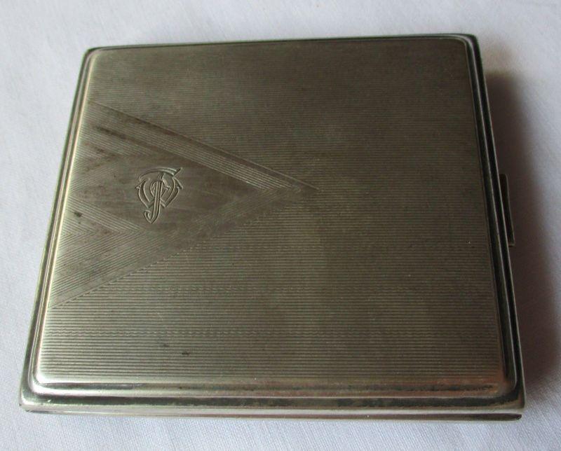 Altes Zigarettenetui Zigaretten Schachtel Etui Monogramm FW um 1930 (124146)