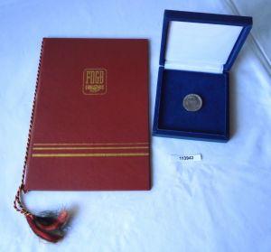DDR Hans Loch Ehrennadel LDPD 1983 mit Etui plus Urkunde (113943)
